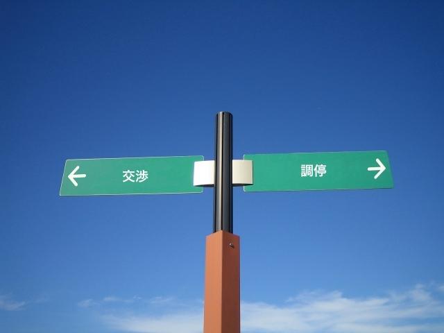 交渉と調停、どっちから行うべき?